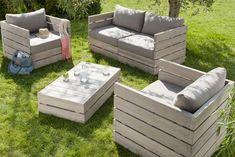 DIY outdoor garden furniture ideas reclaimed timber wood
