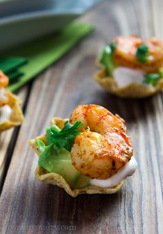 Easy Shrimp Taco Bites