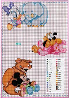 it punto croce Disney Cross Stitch Patterns, Cross Stitch For Kids, Cross Stitch Baby, Cross Stitch Charts, Cross Stitching, Cross Stitch Embroidery, Embroidery Patterns, Hand Embroidery, Disney Stitch
