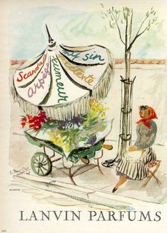 vintage perfume ad: Lanvin Parfums