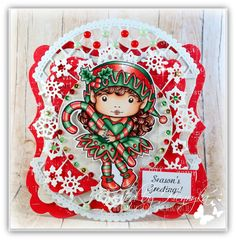 Inspiration Monday - Anything Goes Christmas Elf, Christmas Ornaments, Magic Crafts, Monday Inspiration, Design Crafts, Snowflakes, Card Making, Banner, Paper Crafts