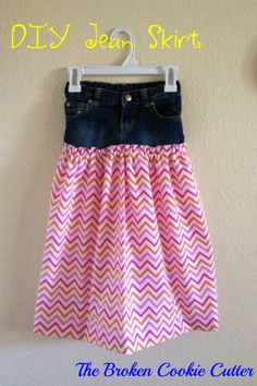 e504facce14e DIY Skirt From Jeans : DIY Jean Skirt Toddler Jeans, Toddler Dress, Toddler  Girls