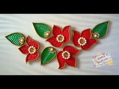 DIY - Flower kundan rangoli, How to make beautiful rearrangeable kundan ...