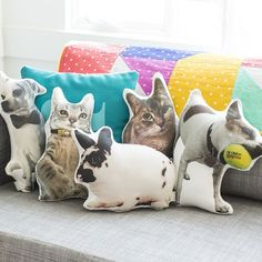 Cuddle up with a plush replica of your pet + make a custom pet pillow.