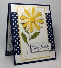 handmade greeting card: Delightful Daisy ... finished look ... die cut layered flower  ... lots of layers ... Stampin' Up!