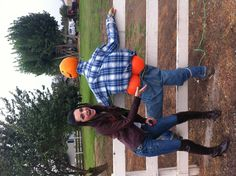 Funny pumpkin decoration idea! Found this driving around & I just had to take a picture!