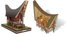 ARCHITETTURA ANCESTRALE: LE TRADIZIONALI KORAMBO Vernacular Architecture, Historical Architecture, Bamboo House Design, Minangkabau, House On Stilts, Wood Joinery, Resort Style, Architect Design, Traditional Art
