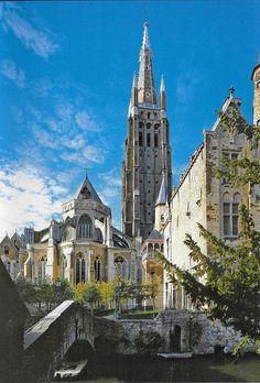 PK1248. Brugge. Eglise Notre Dame & Pont Saint-Boniface.