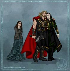 Thor The Dark World: Truce by aminawolf on deviantART. Poor Jane, this is probably what my female characters feel like. I always pay more attention to the brotherly relationships than the romantic ones :P