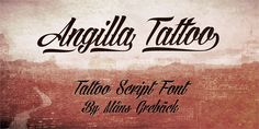 Angilla Tattoo font by Måns Grebäck - FontSpace