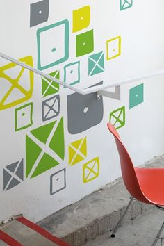 Crosspatch Combo Wall Decals Dress your walls up with Eames removable Blick wall graphics. Easily apply the Crosspatches in the pattern of your choosing. The Crosspatch graphics are taken from the Ray Eames fabric pattern. Eames Chairs, Bar Chairs, Eames Furniture, Eames Dining, Dining Chairs, Wall Stickers, Wall Decals, Charles Ray Eames, Plastic Adirondack Chairs