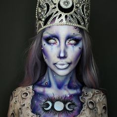 WEBSTA @ ellie35x - Moon Queen This is the first look I've ever filmed! So if you swipe left you can see a little tutorial!!!