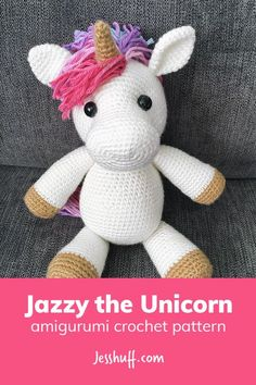Free pattern! Jazzy the Unicorn Amigurumi Pattern #amigurumi #crochet #freepattern