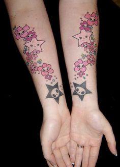 Tokidoki stars & sakura tattoo