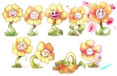 Flowey the Flower faces by Sandette on DeviantArt Flowey Undertale, Undertale Fanart, Undertale Comic, Frisk, Flowey La Flor, Flowey The Flower, Toby Fox, Pokemon Comics, Underswap