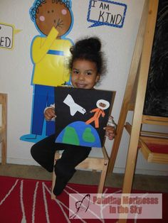 Womens History Month: Dr. Mae Jemison. Learning about the first African American woman astronaut. Toddler Activity.