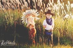 Cowboys and Indians photo shoot
