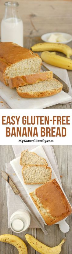 An easy gluten-free banana bread recipe that hits many of the needs for my family! This recipe is gluten-free, dairy free, nut free and easy on the budget! Wheat Free Recipes, Best Gluten Free Recipes, Allergy Free Recipes, Gf Recipes, Muffin Recipes, Gluten Free Banana Bread, Banana Bread Recipes, Gluten Free Baking, Cooking