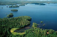 Lake Lummenne. Finnish Lake District