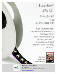 Little Known Films:Apres Vous - Saturday, January 7 @ 5:00 pm