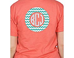 Monogram Circle Short Sleeve Relaxed Fit T-Shirt *Choose Your Colors