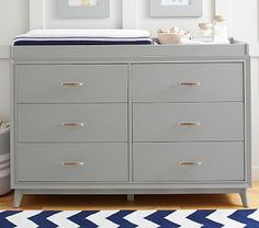 Reese Extra Wide Dresser & Topper Set #pbkids without change topper