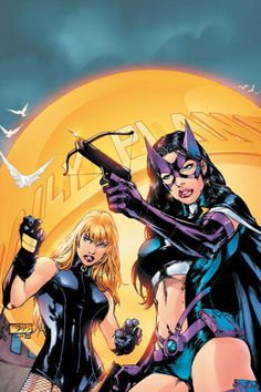 huntress & black canary by Ed Benes