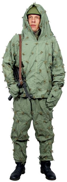 Red Army scout in 'Raffia' camouflage suit - designed to break up the wearers…