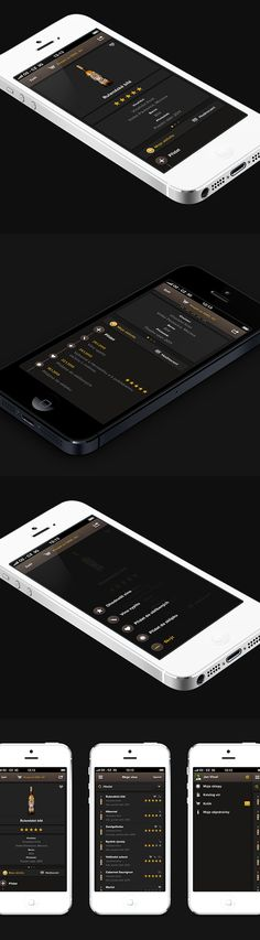 Wine Mobile App by Michael Dolejš, via Behance