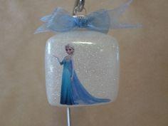 Unique Frozen themed ornament featuring Elsa.