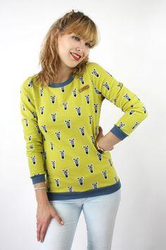 Sweatshirts - Pullover Zebra Baumwolle - ein Designerstück von JAQUEEN-handmade-streetwear-berlin bei DaWanda
