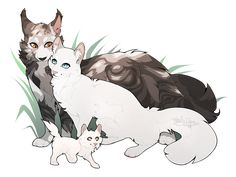 Another warrior cat pairing ^^ dang Whitekit is so adorable and fluffy ;w; anyways, hope you enjoy it ~ art by: me characters belongs to: Erin Hunter(s)