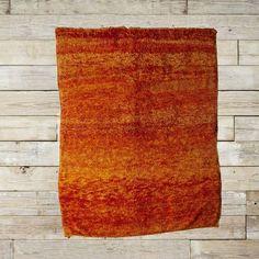 just a found moroccan rug in orange ombre shag. no big deal. (!!!!!!!)