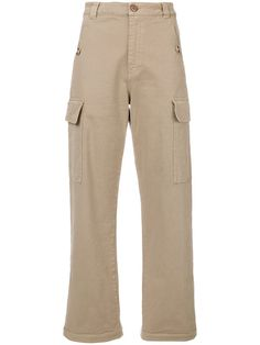 Shop See By Chloé wide leg cargo trousers.