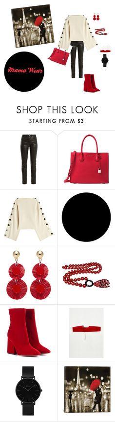 Mama Wear by managerofmadness on Polyvore featuring Petar Petrov, Yves Saint Laurent, Maison Margiela, Michael Kors, CLUSE, Jean Patou, Oscar de la Renta, Wall Pops! and iCanvas