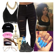 """""""The Mall W// ~Cece"""" by saucinonyou999 ❤ liked on Polyvore featuring Calvin Klein Underwear, Goldgenie and NIKE"""