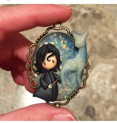 Cute Polymer Clay, Fimo Clay, Polymer Clay Projects, Polymer Clay Charms, Polymer Clay Jewelry, Clay Crafts, Harry Potter Dolls, Snape Harry Potter, Harry Potter Charms