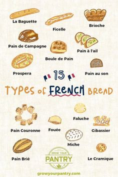 The Bread! Each type of bread is distinct and tastes different… With a very specific type of look The expertIdentify The Bread! Each type of bread is distinct and tastes different… With a very specific type of look The expert Baguette, Different Types Of Bread, Bread Types, French Loaf, French Patisserie, French Bakery, French Pastries, Artisan Bread, How To Make Bread