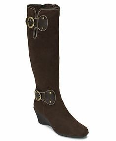 Aerosoles Shoes, Wonderling Boots...Love! I own this in black, this gorgeous chocolate brown you see here and tan. So extremely comfortable and that second zipper is a miracle for us athletic women with muscular calves.