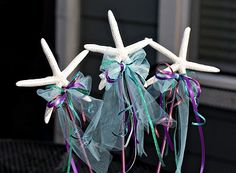 Star fish wands...mermaid party