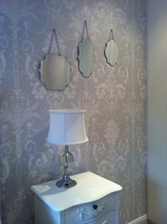 Laura Ashley wallpaper and mirrors complete