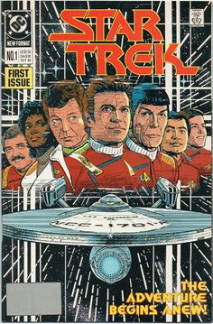 DC Comics First Issue Star Trek No 1 Oct This sci fi comic collectible is in good condition. Star Trek No 1 is used, sold as a collectible, as shown, as is. Dc Comic Books, Comic Movies, Star Trek Posters, Star Trek Books, Spock And Kirk, Star Trek 1, Star Trek Original Series, Sci Fi Comics, Film D'animation