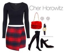 """""""Cher Horowitz"""" by msfrancescaaloe on Polyvore featuring Topshop, Hue, Chanel, Gianvito Rossi, Kate Spade, River Island, women's clothing, women's fashion, women and female"""