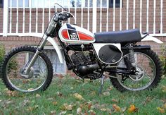 1975 Yamaha MX100.  Aside from engine performance, there weren't many differences between these motocrossers and their road-friendly cousins, the DT Series.