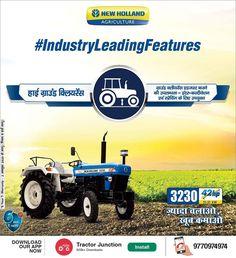 New Holland 3230 NX में है 3 Cylinder और 42 HP का Engine. और साथ में है 1500 kg. की Lifting Capacity. #Tractorguru#loan #price #Specifications #Agriculture #NewHollend New Holland Agriculture, Tractor Price, New Holland Tractor, Tractors, Monster Trucks, Technology, Tech, Tecnologia