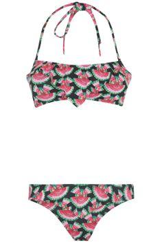 Primark Watermelon Flounce Bikini Bandeau Top, £4 And Pants, £3 | Look