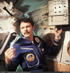 Soyuz 36, hungarian cosmonaut bertalan farkas carrying out the 'alloy'…