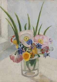 Winifred Nicholson, Flowers in a Glass Jar, c. 1925, Oil on canvas, 47 x 34 cm, Private Collection, © Trustees of Winifred Nicholson