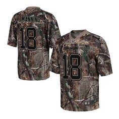 Nike Denver Broncos 18 Peyton Manning Elite Camo Realtree Jersey