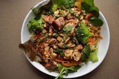 VeganMagicTime: Asian Noodle Salad with Sesame Ginger Tofu
